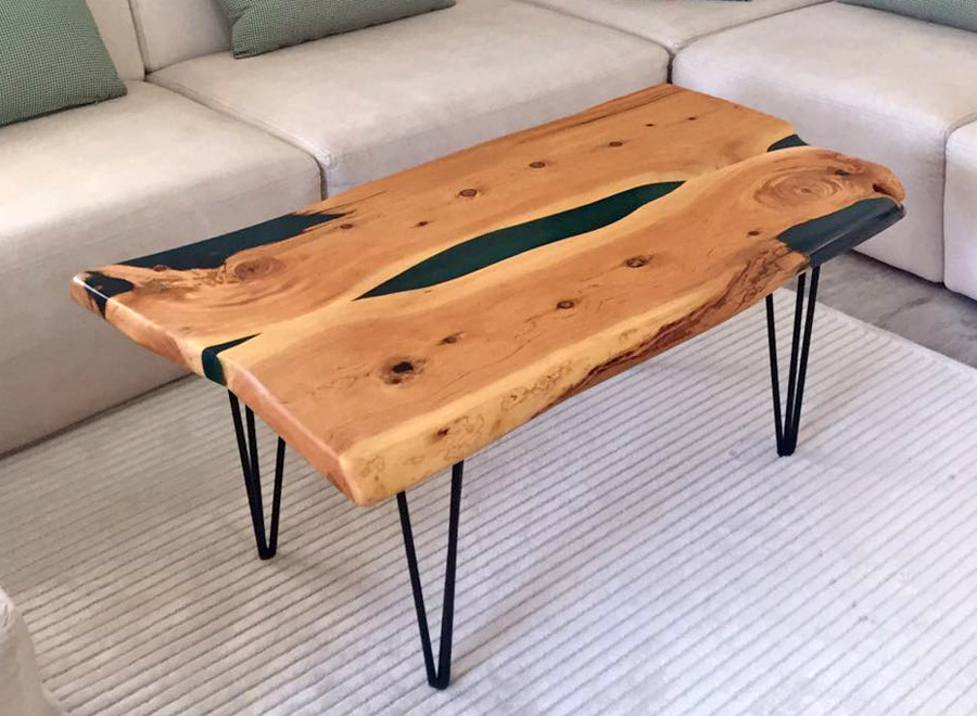 Arikanda Cedar Epoxy Coffee Table