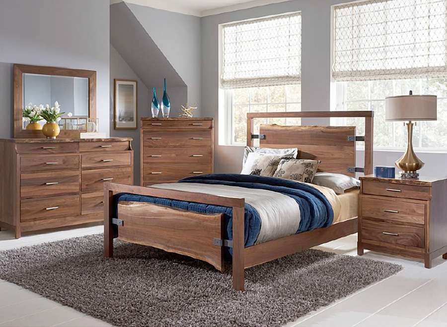 Patara Natural Wood Bed Frame