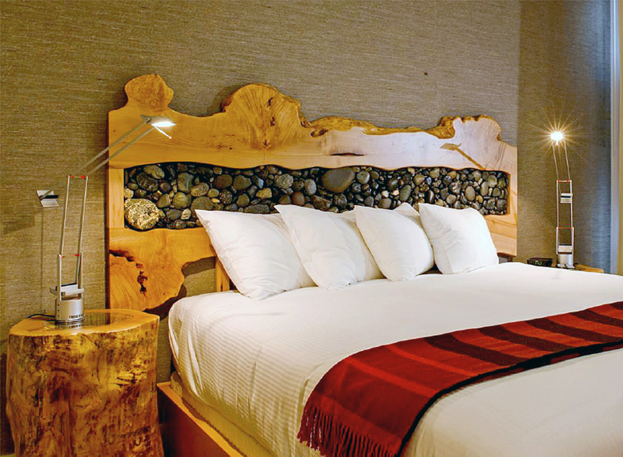 Savsat Natural Wood Bed Frame