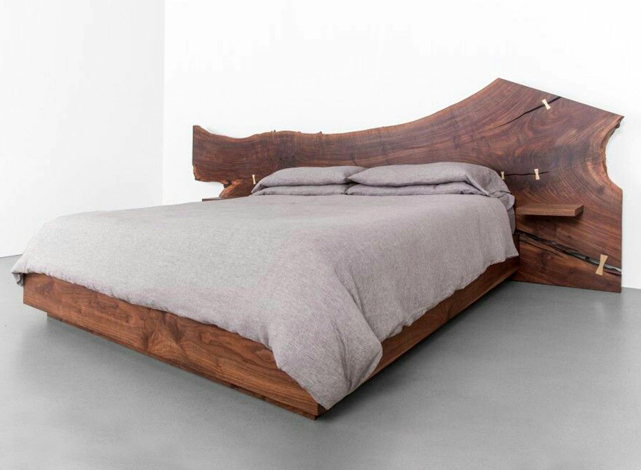 Sagalassos Natural Wood Bed Frame